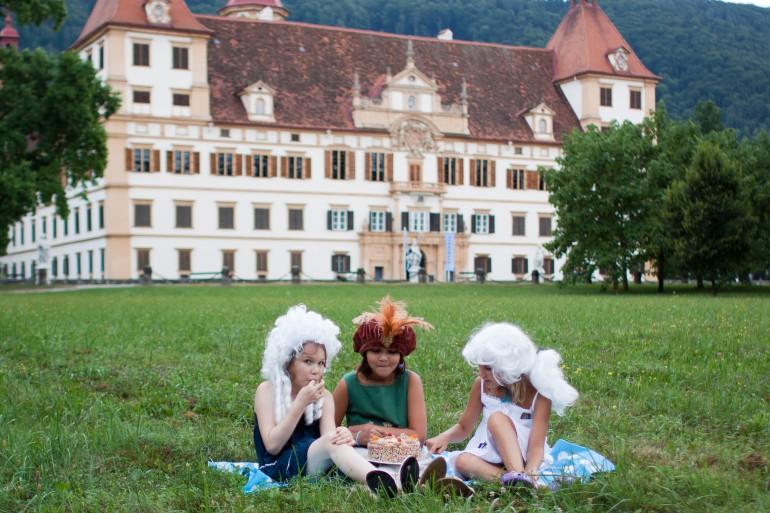 Historisches Ambiente für eine Geburtstagsfeier: Schloss Eggenberg; Foto: UMJ
