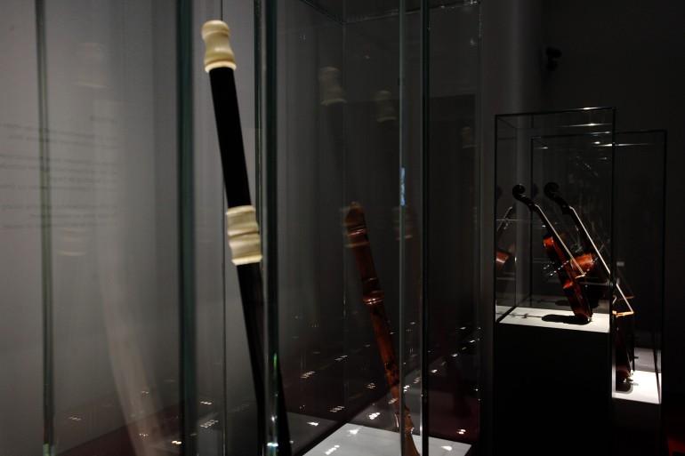 Jean Hotteterres Traversflöte ist im Museum im Palais zu sehen - und zu hören; Foto: UMJ / N. Lackner