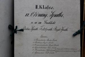 Kasteninventar, 1820er-Jahre; Foto: UMJ