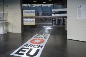 Im Joanneumsviertel gab es auch eine Ausstellung zum Mies-van-der-Rohe-Award zu sehen; Foto: UMJ / N. Lackner