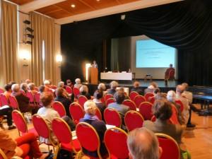 """Symposium """"Sammeln in der Gegenwart - Gestalten für die Zukunft"""" im Heimatsaal anlässlich des 100. Geburtstages des Volkskundemuseums; Foto: UMJ"""