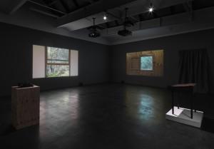 "Ausstellungsansicht, James Benning: """"Two Cabins"", neugerriemschneider, Berlin, 2012 Foto: Jens Ziehe, Berlin. Courtesy neugerriemschneider, Berlin."