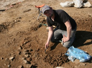 Mag. Federico Bellitti bei einer archäologischen Grabung