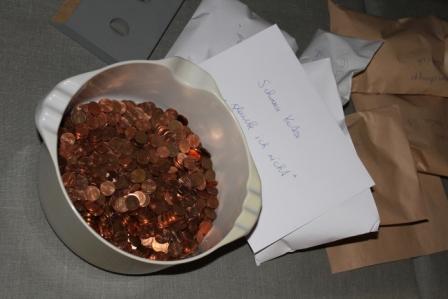 Da kommen Dagobert Duck-Gefühle auf…Doch nach dem Zählen werden die Münzen wieder an die Besucherinnen und Besucher ausgegeben. Foto: Eva Kreissl
