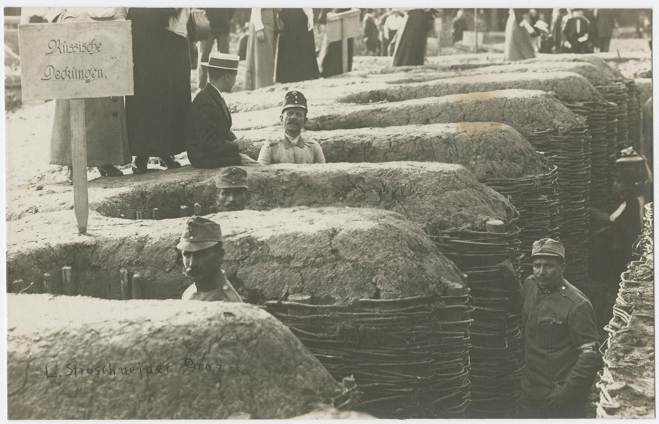 Kriegsausstellung am Feliferhof 1915, Fotografie Sammlung Kubinzky, Graz