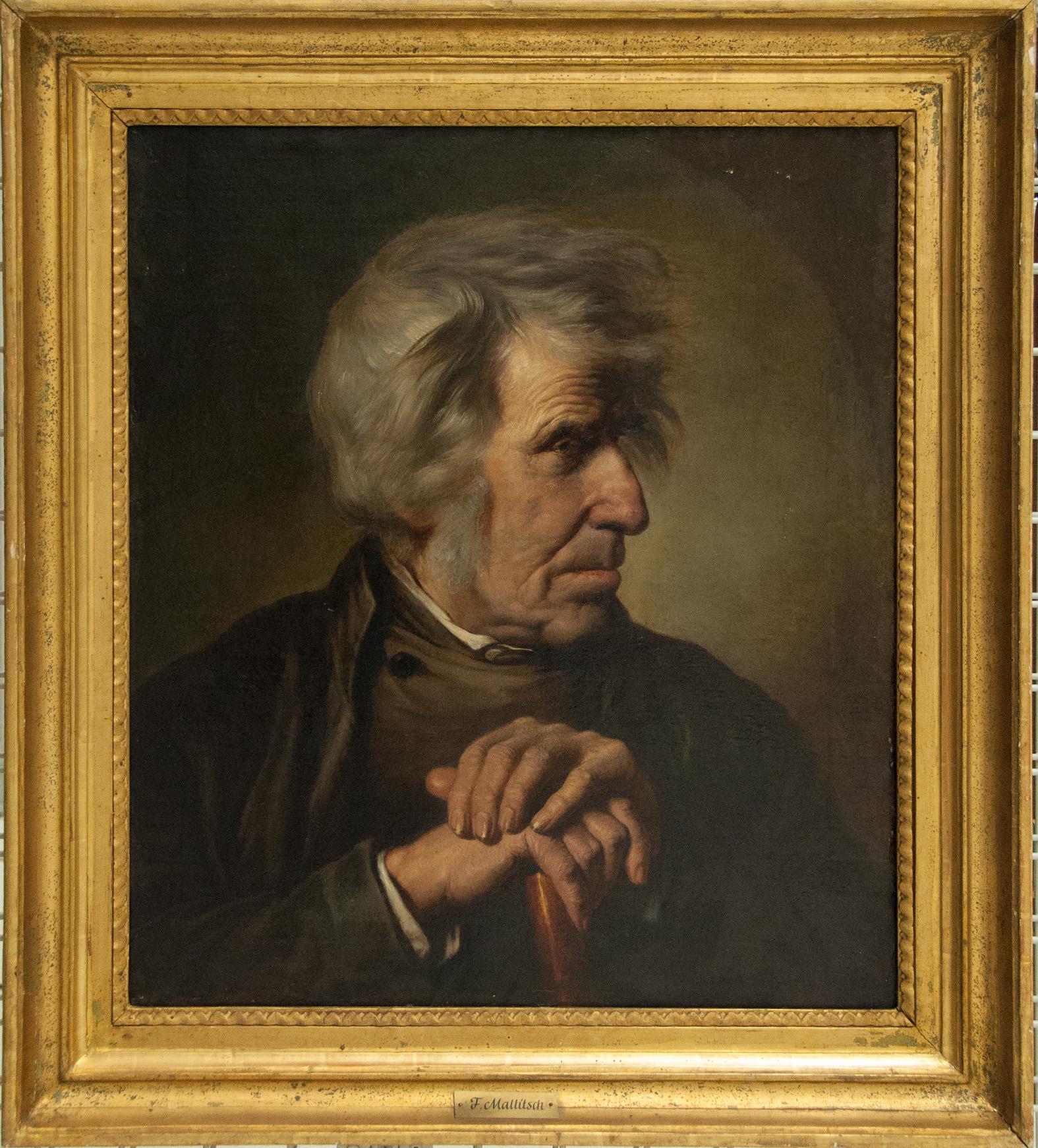 DU, Mallitsch Ferdinand, Brustbild eines alten Mannes, 1855, Öl/Leinwand, Depot der Neuen Galerie, Foto: UMJ