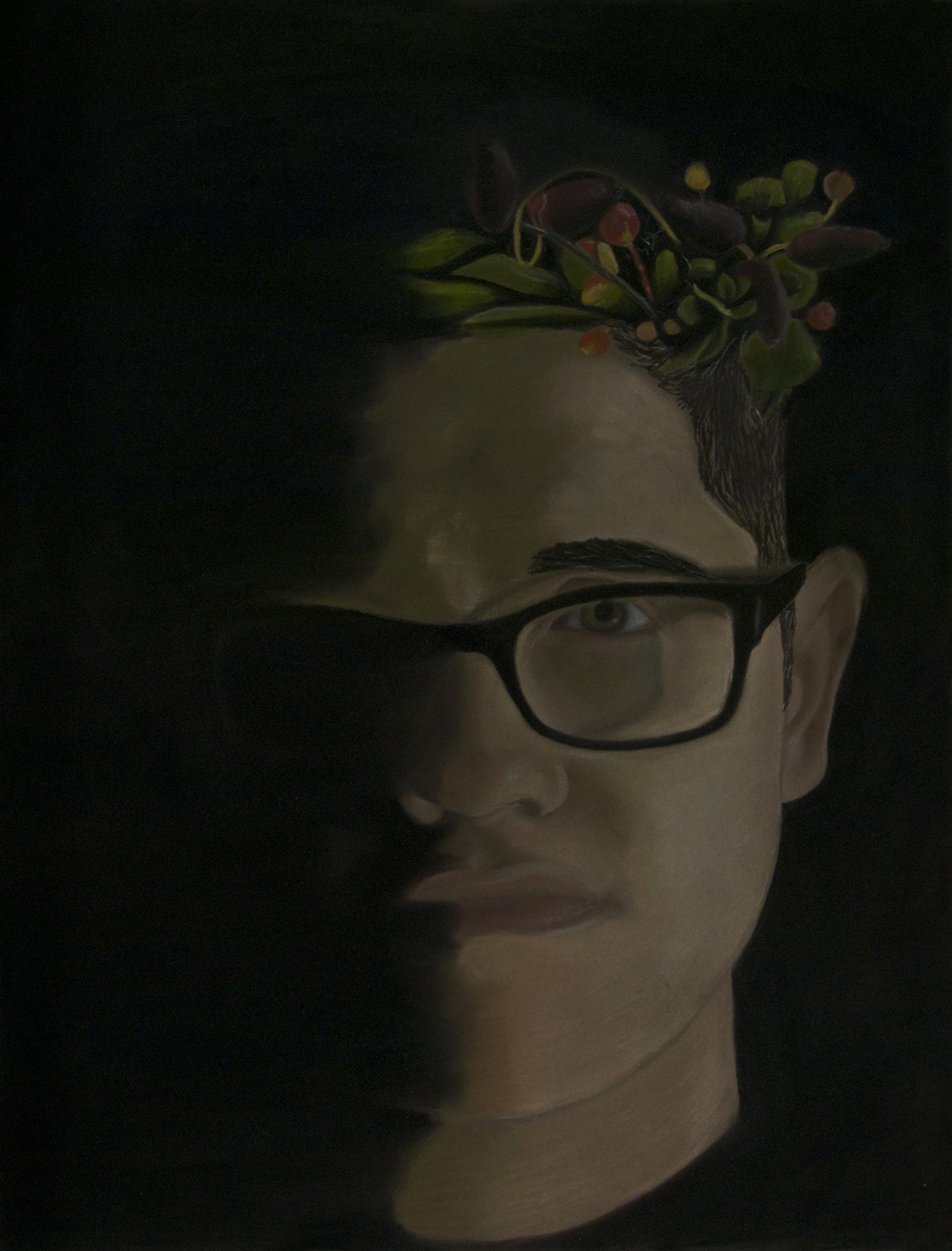 ICH, Pastellportrait Thomas Maier, Foto: T. Maier