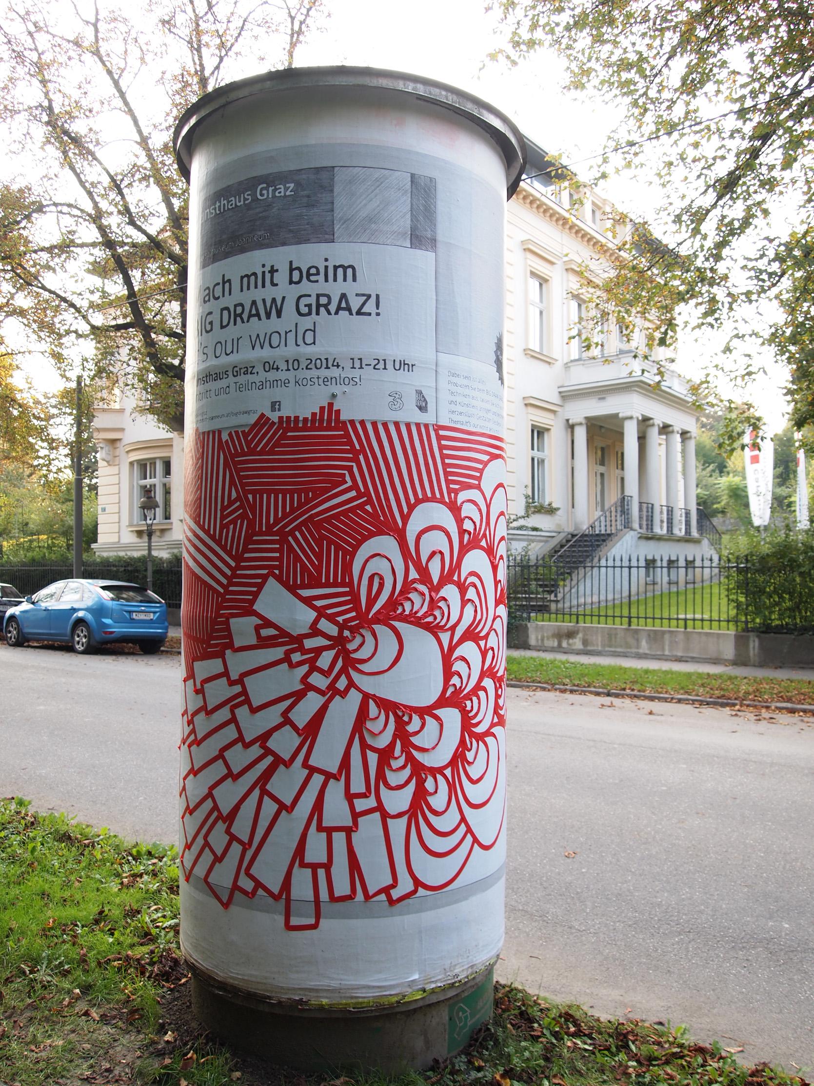 Litfaßsäule in der Schubertstraße, © UMJ