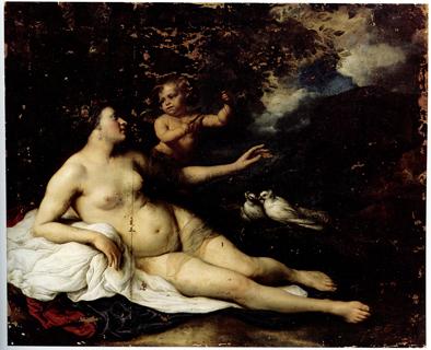 G. Flinck, Venus und Amor, Vorzustand. Foto: P.-B. Eipper