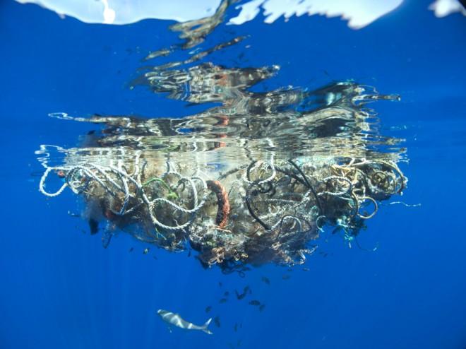 Unter der Wasseroberfläche, Great Pacific Garbage Patch, 2009, Foto: © Lindsey Hoshaw