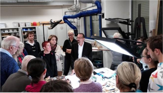 Ein Blick hinter Kulissen - in der Restaurierungswerkstatt der Alten Galerie mit Paul-Bernhard Eipper
