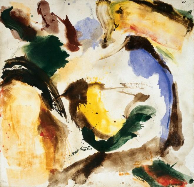Wolfgang Hollegha, Holzstück III, 1966, Sammlung Neue Galerie Graz, Universalmuseum Joanneum