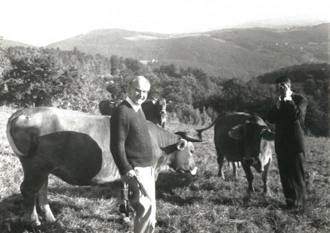 """Hoffmann als """"Landwirt"""" in Graz, 1970er-JahreFoto: Privatbesitz"""