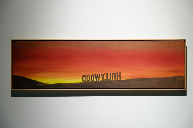 Installationsansicht, Ed Rusha, The Back of Hollywood, 1977, Foto: UMJ/N. Lackner