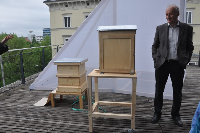 Der Schaustock am Dach des Kunsthauses, © Renate Buchgraber