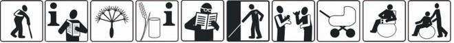 Piktogramme für Barrierefreiheit