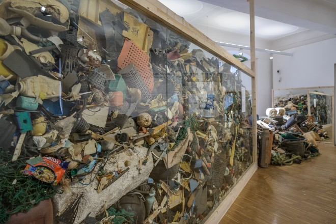 """Ausstellungsansicht """"Endstation Meer"""", Foto: Universalmuseum Joanneum/N. Lackner"""