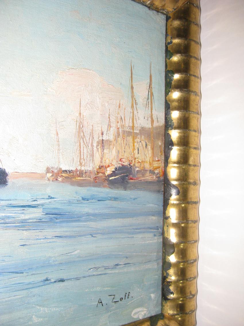 Ölfarbe am Zierrahmen weist auf eine Fertigstellung des Gemäldes im Rahmen hin; Foto: Paul-Bernhard Eipper