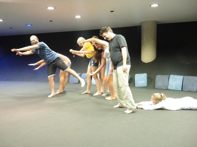 Beim Koogle-Workshop mit theater t´eig, Foto: Universalmuseum Joanneum