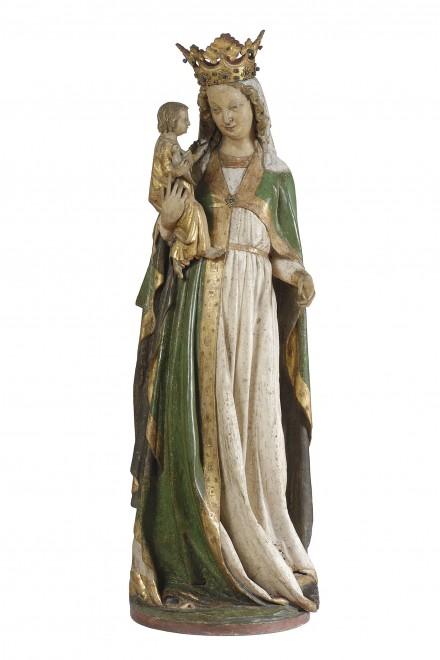 Admonter Madonna, Burgund, um 1260, Holz, gefasst, 144 x 49 x 46 cm