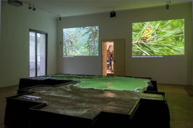 Moderne Technik bespielt das Relief heute im Naturkundemuseum, Foto: Universalmuseum Joanneum/N. Lackner