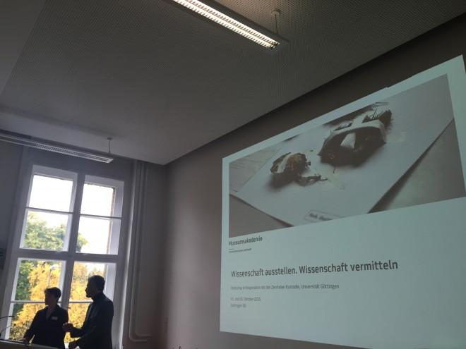 """Vorträge zum Thema """"Wissenschaft ausstellen - Wissenschaft vermitteln"""", Foto: UMJ/S. Koller"""
