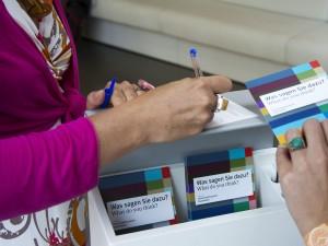Mittels der Feedback-Boxen in allen Museen des Universalmuseum Joanneum ist man an den Vorschläge und Wünschen der Besucher/innen noch näher dran. Foto: UMJ