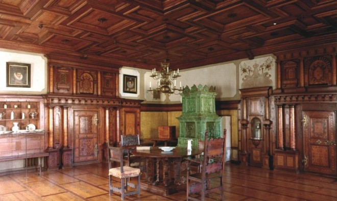 """""""Weizer Saal"""" aus Schloss Radmannsdorf bei Weiz, Foto: Universalmuseum Joanneum vor 1981"""