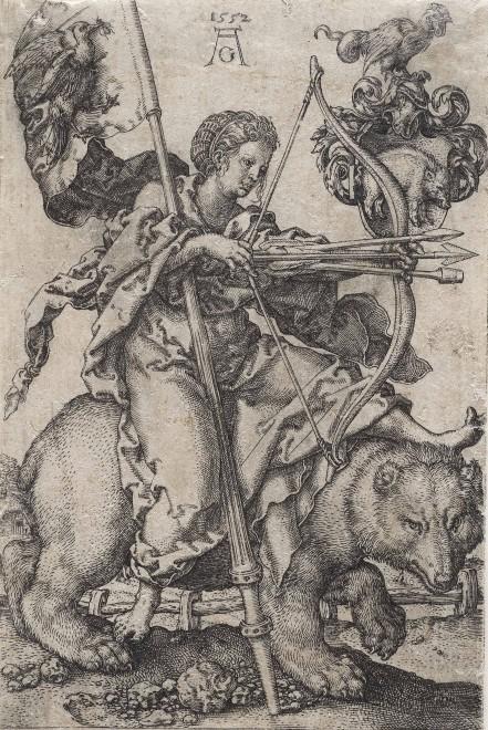 Heinrich Aldegrever: Der Zorn 1552, Foto: Universalmuseum Joanneum/N. Lackner