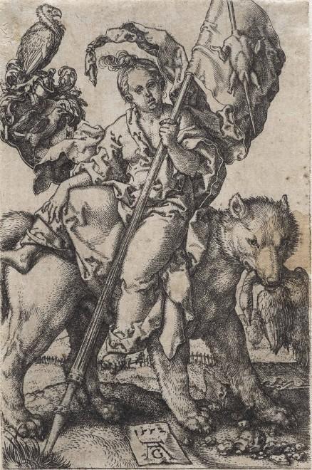 Heinrich Aldegrever: Der Geiz 1552, Foto: Universalmuseum Joanneum/N. Lackner
