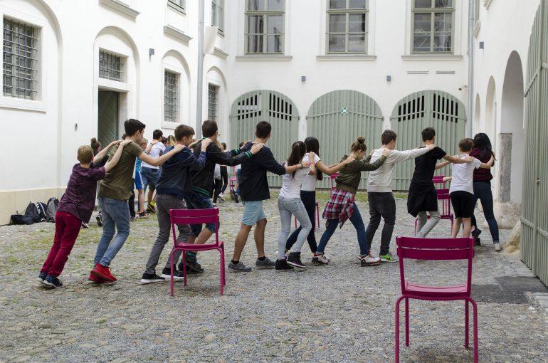 Bewegungsspiel zur Renaturierung, Foto: Universalmuseum Joanneum