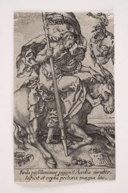 Heinrich Aldegrever: Die Faulheit 1552, Foto: Universalmuseum Joanneum/N. Lackner