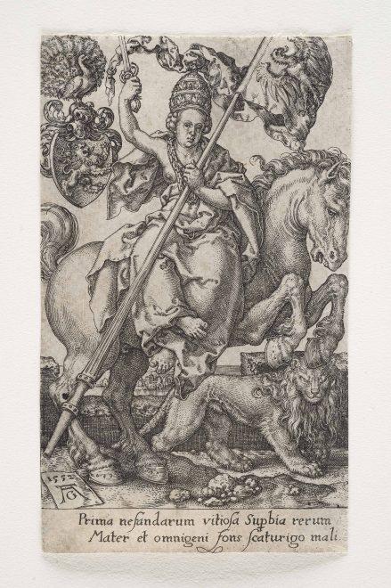 Heinrich Aldegrever: Der Hochmut 1552, Foto: Universalmuseum Joanneum/N. Lackner