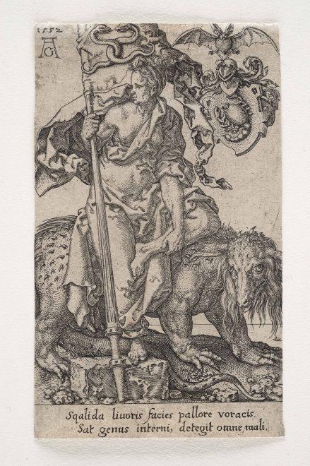 Heinrich Aldegrever: Der Neid 1552, Foto: Universalmuseum Joanneum/N. Lackner