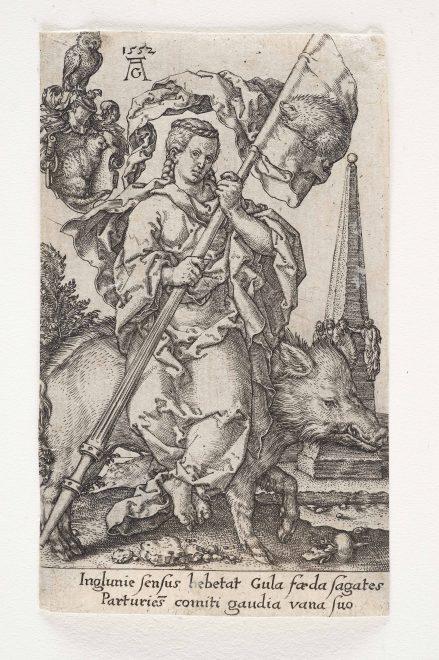 Heinrich Aldegrever: Die Völlerei 1552, Foto: Universalmuseum Joanneum/N. Lackner