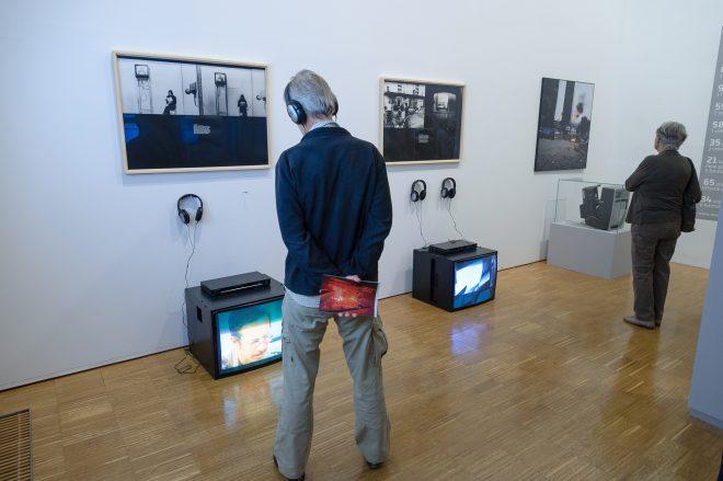 """Ausstellungsansicht """"medienblock-richard-kriesche"""", Foto: Universalmuseum Joanneum/N. Lackner"""