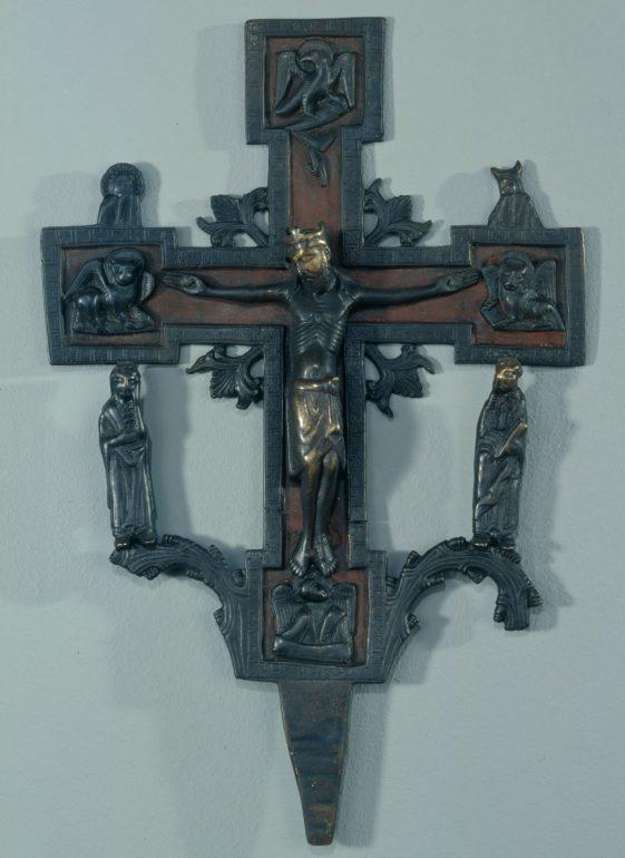 Vortragekreuz aus Pöls mit Evangelistensymbolen, Süddeutsch (?), um 1180, Foto: Universalmuseum Joanneum