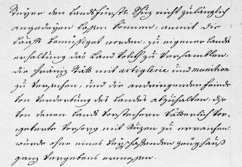 Brief der Buchhaltung an die steirische Landschaft, Original im Steiermärkischen Landesarchiv, Foto: UMJ