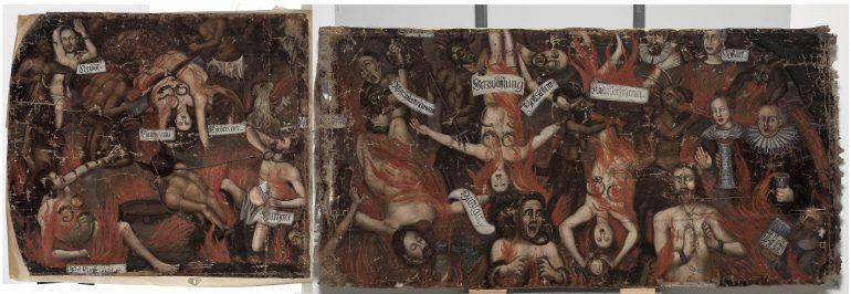: Fotomontage der erhaltenen Teile (heutige Rückseite) nach Reinigung und Festigung, Fotomontage: UMJ/N. Lackner