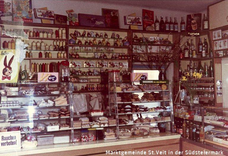Foto: unbekannter Fotograf, Verkaufsraum Konditorei –Cafe Kaiser, um 1970