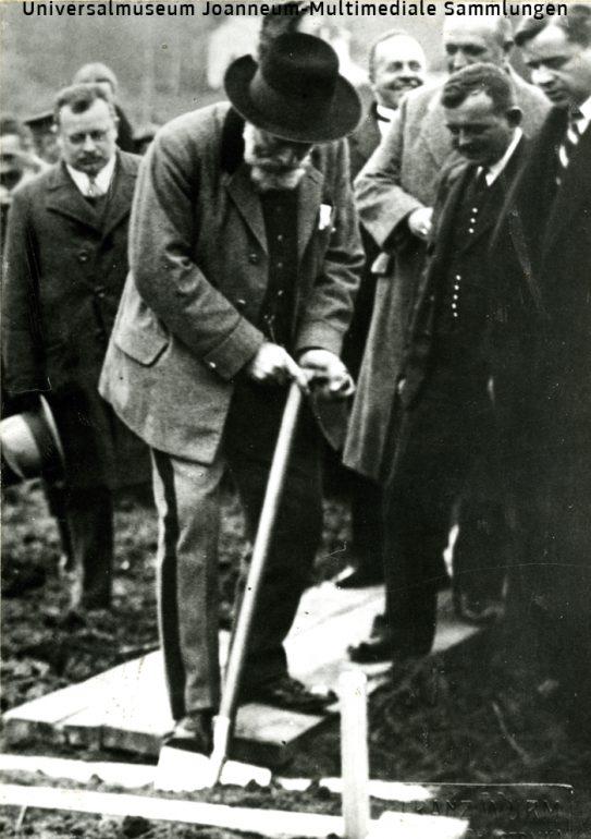 KB008061,Wurm Franz (Feldbach), Feldbach: Spatenstich zum Bau der Gleichenberger Bahn durch Bundespräsident Michael Hainisch, 1926, Multimediale Sammlungen/UMJ