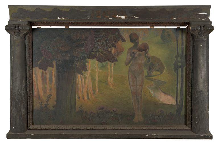 Paul Schad-Rossa, Eden, um 1899, Neue Galerie Graz, UMJ, Zustand vor der Restaurierung, Foto: UMJ.