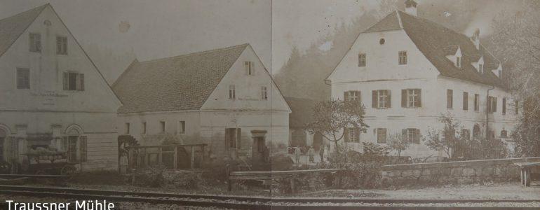 Ehrenhausen, Mühlengebäude erbaut von Alois und Agnes Schallhammer, Foto um 1880
