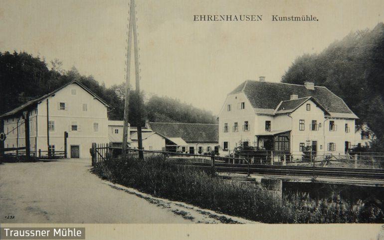 Postkarte, Kunstmühle Ehrenhausen, um 1915