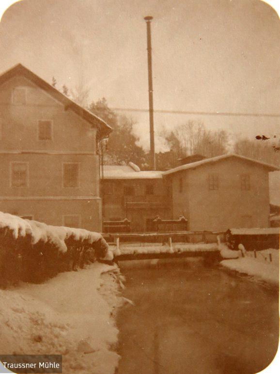"""""""Rieckh-Mühle"""" mit Mühlgang, Winter 1922"""
