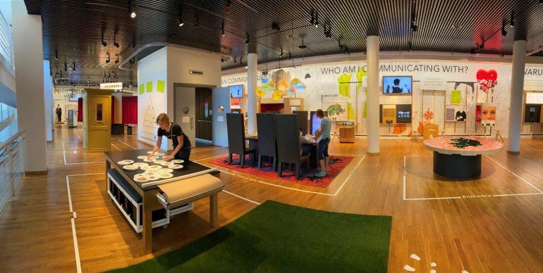 Innenansicht aus dem Museum für Kommunikation
