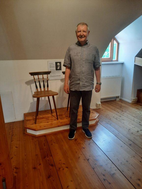 Herr Biener im Heimatmuseum Gnas
