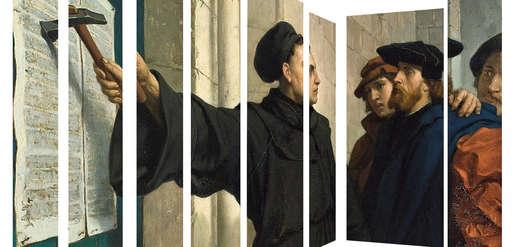 "Ferdinand Pauwels, ""Luthers Thesenanschlag"", 1872,"