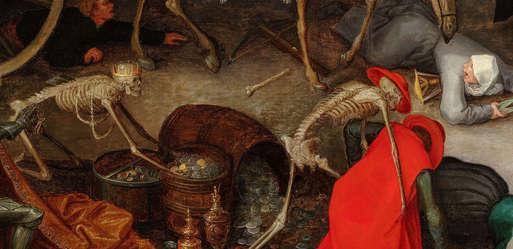 """Jan Brueghel d. Ä. (1568-1625), """"Triumph des Todes"""", 1597 (Detail),"""