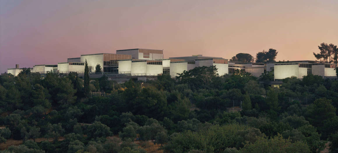 East elevation view of the renewed Israel Museum at dusk, Foto: Tim Hursley, Israel Museum